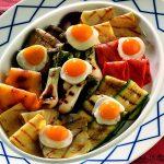 Recette d'oeuf de caille aux légumes grillés