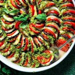 Recette d'aubergine moderne Parmigiana