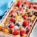 Recette de tarte salée aux anchois et aubergines