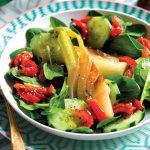 Recette Salade de concombre, fenouil au beurre et poivrons paprika