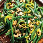 Recette Haricots verts et noix de cajou épicés