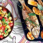 Recette de Mormore grillé et panzanella aux olives vertes et cucunci