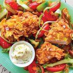Pépites de poulet aux flocons de maïs recette