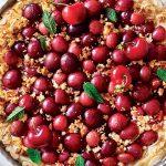 Recette de focaccia aux cerises, amaretti et amandes