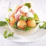Cinq salades au melon