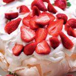 Recette Pavlova à la crème et aux fraises