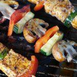 Barbecue avec desserts grillés