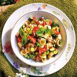 Recette Orecchiette tiède et légumes à l'huile aromatique
